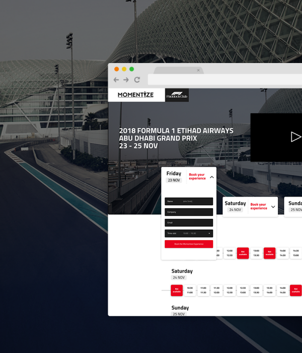 Momentize F1 Paddock Club™ Experience